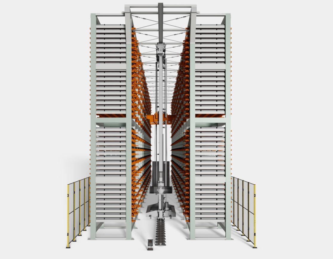 automatyczny system składowania z układnica magazynowa